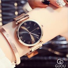>> Click to Buy << GUOU Watches Top Brand Watches For Women Luxury Rose Gold Watch Women Fashion Full Steel Women's Watches saat relogio feminino #Affiliate