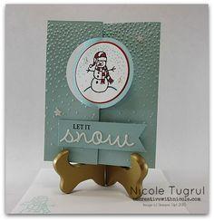 Sparkly Seasons Snowman Flip Card becreativewithnicole.com