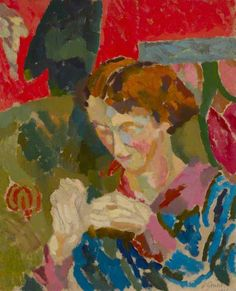 xx..tracy porter..poetic wanderlust...-Duncan Grant, Woman Sewing, 1916*