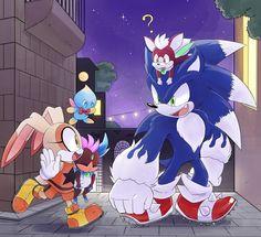 COMM: Night on Spagonia by Drawloverlala on DeviantArt Sonic The Hedgehog, Hedgehog Movie, Shadow The Hedgehog, Cream Sonic, Shadow And Amy, Sonic Unleashed, Sonic Funny, Sonic Franchise, Sonic Adventure