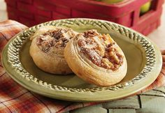 Swirls of flaky pastry are filled with cinnamon scented apples and pecans. A quick dusting of confectioners' sugar and they're ready to enjoy!