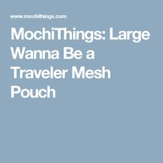 MochiThings: Large Wanna Be a Traveler Mesh Pouch