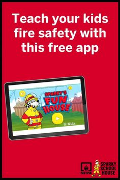 Help Sparky the Fire Dog® practice his home fire escape plan before going to the carnival! When you hear the Beep, Beep, Beep of a smoke alarm, help him find a safe way to his outside meeting place, unlocking three cool mini-games that teach addition, spelling and problem solving skills. Fire Safety For Kids, Fire Safety Tips, Escape Plan, Fire Escape, Sparky The Fire Dog, Fire Prevention Week, House App, Meeting Place, Smoke Alarms