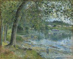 Camille Pissarro (1830-1903) Bords De L'oise A Auvers-sur-Oise 1878 (54,2 x 65,4 cm)