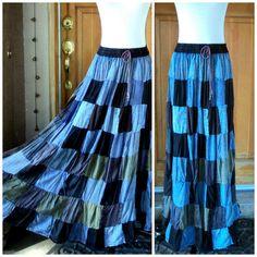Vintage 90s Skirt Full Maxi Patchwork by caligodessvintage on Etsy