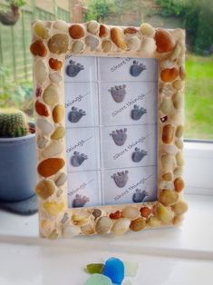 Beach Pebble Photo Picture Frame Natural Home Decor Isle of Wight Beach Sea Glass Ring, Sea Glass Necklace, Isle Of Wight Beach, Shell Wind Chimes, Nautical Gifts, Photo Picture Frames, Natural Home Decor, Inspired Homes, Beautiful Hands