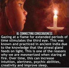 Trāṭaka is a method of meditation that involves staring at a single point such as a small object, black dot or candle flame. It is said to bring energy. Reiki, Spiritual Enlightenment, Spiritual Wisdom, Spiritual Awakening Quotes, Spiritual Metaphysics, Spiritual Warrior, Affirmations, Psychic Development, Pineal Gland