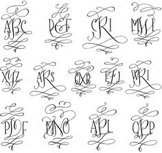 Barocca Monograms by Tart Workshop