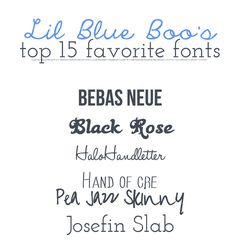 Lil Blue Boo's Top 15 Favorite Free Fonts {with easy download links}