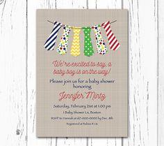 Little Man Baby Shower Invitation Tie by DesignedbyGeorgette