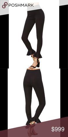 COMING SOON High waist ruffled hem leggings High waisted ruffled hem leggings  Black  Lots of stretch  65% Polyester, 35% Cotton  S:Hip Size:31.5inch, Length:27.0inch, Thigh:19.5inch, Waist:24.4-36.2inch M:Hip Size:33.1inch, Length:27.4inch, Thigh:20.3inch, Waist:26.0-37.8inch L:Hip Size:34.6inch, Length:27.8inch, Thigh:21.1inch, Waist:27.6-39.4inch Pants Leggings