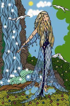 Nereus' Daughter ~ by Kytheira ~ created using the Erte Elegance doll maker | DollDivine.com