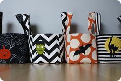 Trick or Treat. Halloween will be here before you know it. Halloween Buckets, Halloween Post, Halloween Bags, Spooky Halloween, Holidays Halloween, Halloween Crafts, Halloween Decorations, Halloween Sewing, Halloween Ideas