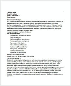 senior account manager resume resume for manager position many of us interested in being