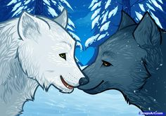 Drawings of Wolves in Love how to draw wolf love wolf love Wolf drawing Wolf love Cute wolf drawings