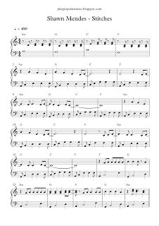 play popular music, Stitches, Shawn Mendes, free, guitar chords, music, piano,  sheet, sheet music,