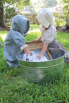 Sweet ideas for a Little House on the Prairie theme, or American Girl doll theme parties