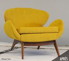 Montreal-based upholstery & textile design company offering an eco-friendly upholstery service for secondhand furniture and a selection of unique product Mcm Furniture, Second Hand Furniture, Tub Chair, Textile Design, Mid-century Modern, Accent Chairs, Upholstery, Mid Century, Heart