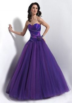 Ball Gown  Taffeta, Tulle Quinceanera Dress ( would be really pretty black, for the USMC ball! )