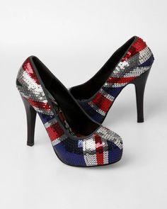 Iron Fist Jacked Up Platform Heels - British Flag - Punk.com - LOVE THESE!