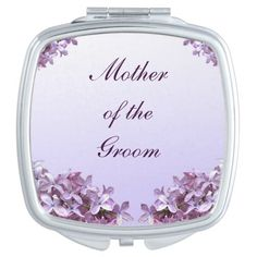 Lilac Wedding Mother of the Groom Compact Mirror