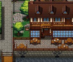 Fantasy Castle, Fantasy Art, Exterior Tiles, 2d Game Art, 8 Bits, Pixel Art Games, Rpg Maker, Map Design, Tile Art