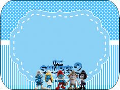 Smurfs: Free Printable Candy Bar Labels for Boys Party. Cd Labels, Candy Bar Labels, Printable Labels, Free Printables, Candy Bags, Blogger Templates, 7th Birthday, Card Making, Invitations