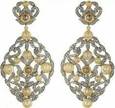 Statement #earrings #diamond #gold #platinum #pearl #finejewellery #dubai