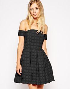 ASOS bardot off shoulder textured dress | $114