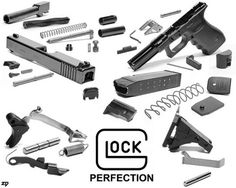 Glock = simple! The simplicity of the design is what makes the Glock such a reliable firearm.