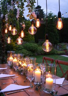 Filament lights, warm white, mains powered, suitable for indoor or outdoor use. Supplied on a festoon string or as Storm Lantern, Rustic Table, Bedroom Lighting, Table Centerpieces, Garland, Festoon Lights, Backdrops, Wedding Flowers, Table Settings
