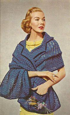 1950s crochet shawl 100 Unique Crochet Shawls - free pattern!