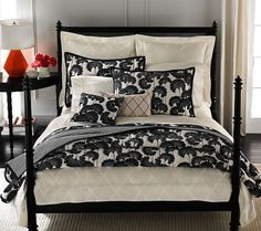 Black and white bedding chaela wants black and white and red in new room... ideas... hmmmm