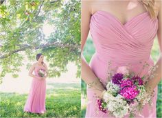 Pink Bridesmaid Gown