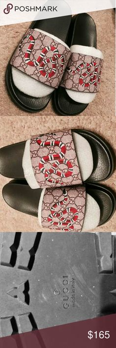 Gucci Snake Slides 100% Authentic Brand new text 404-602-2558 for sizing and offers Gucci Shoes Sandals & Flip-Flops