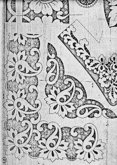 Сундучок: Схемы для вышивки - ришелье