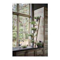 IKEA - SATSUMAS, Halter mit 5 Übertöpfen, Passend für mehrere Pflanzen, überall einsetzbar, dekorativ und praktisch - perfekt für Blumenfreunde mit wenig Platz.Mit einem Blumenständer wird Dekorieren mit Pflanzen überall im Haus ganz leicht.
