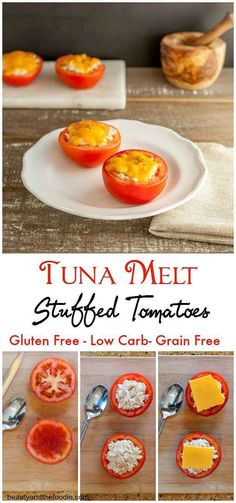 Tuna Melt Stuffed Tomatoes // grain free, low carb, primal