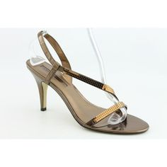 New Bandolino Rayonna Ladies Summer Slingback Heels Shoes Bronze 10 M -- Visit the image link more details.