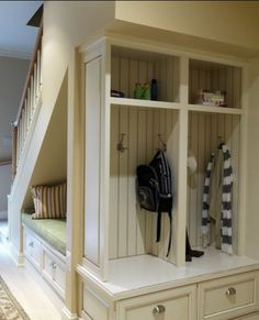 Entryway Staircase & Cubbies!
