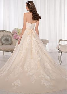 Incredible Sweetheart Natural Full Length A-line Court Wedding Dresses