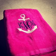 shopcrystalfaye.com Monogram Anchor Towel