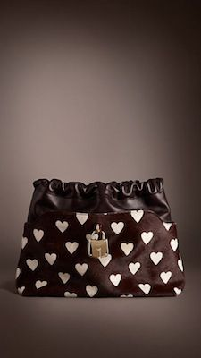 The Crush in Heart Print Calfskin and Leather, Burberry