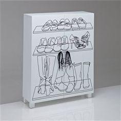 Armoire à chaussures, basse, motif sérigraphié Aderfi La Redoute Interieurs