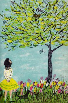 In My Garden by Charlotte Zolotow, illustrated by Roger Duvoisin. Lothrop, Lee & Shepard, 1960