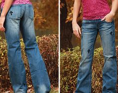 http://www.ropesandrhinestones.com Cowgirl Tuff Rockstar Jeans from Ropes & Rhinestones
