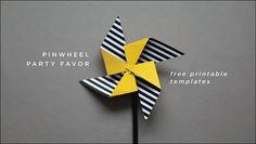 DIY Artsy Pinwheel Wedding Theme Ideas Free Printable