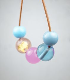Pantone Colors 2016: Rose Quartz and Serenity // Contemporary Jewelry // Murano Glass Jewelry // by melaniemoertel