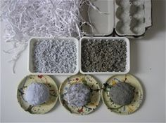 papier mache recipe  shredded paper/egg carton + water + white glue