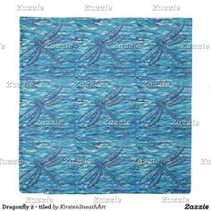 Dragonfly 2 - tiled duvet cover